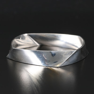 "Frank Gehry for Tiffany & Co. ""Torque"" Sterling Silver Bangle"