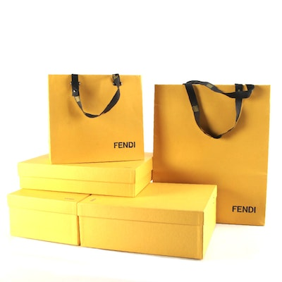 Fendi Gift Boxes and Shopping Bags
