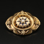 Mid Victorian Pearl Mourning Brooch