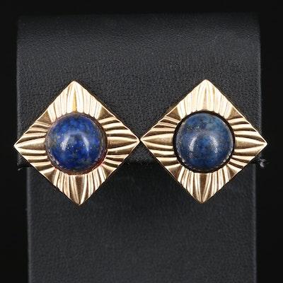 14K Lapis Lazuli Earrings
