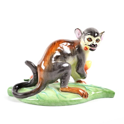 Lynn Chase for Hollóháza Hungary Porcelain Monkey Figurine