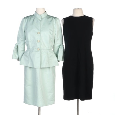 Armani Collezioni Mint Green Dress Set and Calvin Klein Black Sleeveless Dress