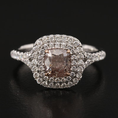 18K 1.53 CTW Diamond Ring with GIA Report