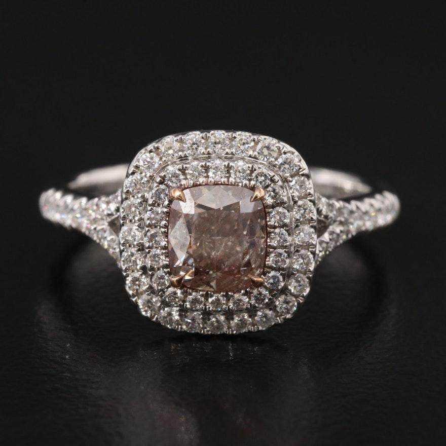 18K 1.53 CTW Diamond Ring with GIA Report