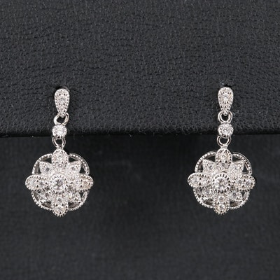 Sterling Silver Milgrain Detail Earrings
