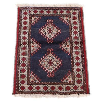 2' x 2'11 Hand-Knotted Persian Turkmen Accent Rug, 1970s