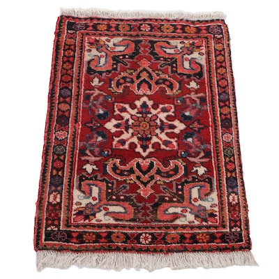 2'5 x 3'7 Hand-Knotted Persian Heriz Accent Rug, 1970s