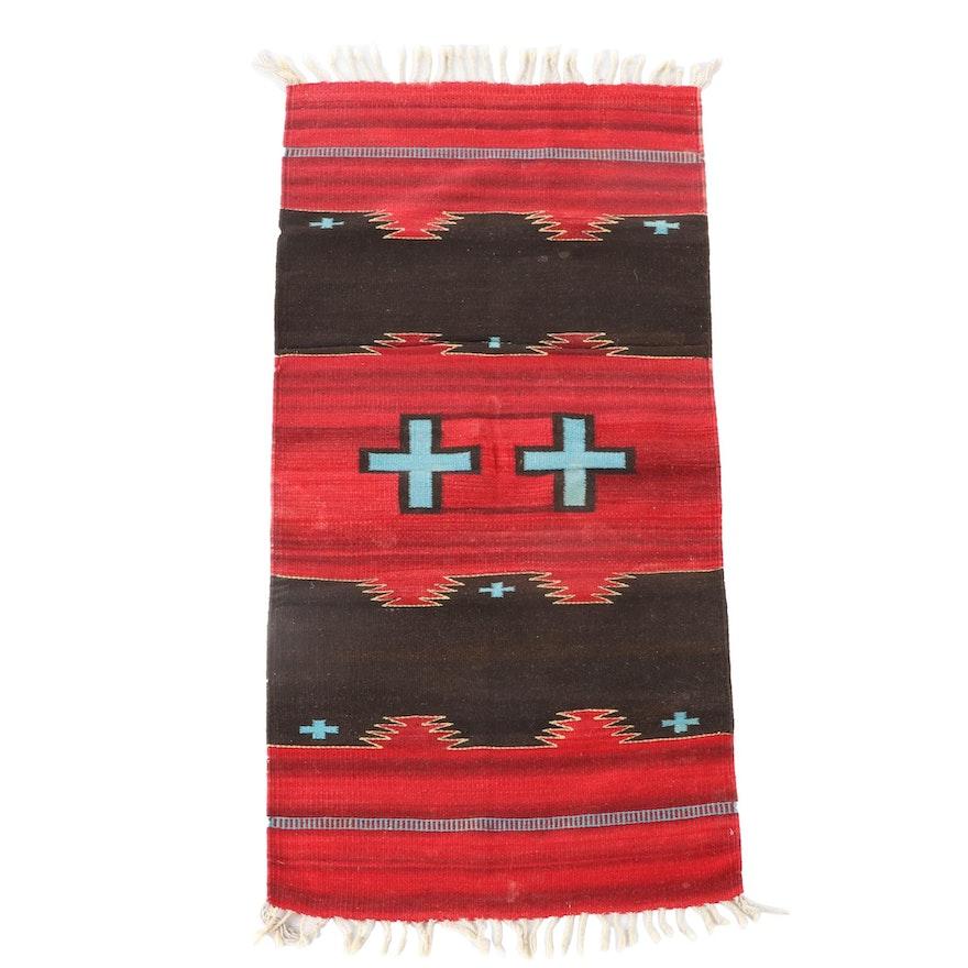 2'4 x 5'0 Handwoven Southwest Style Wool Rug