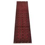 3'1 x 9'8 Hand-Knotted Afghan Turkmen Carpet Runner, 2000s