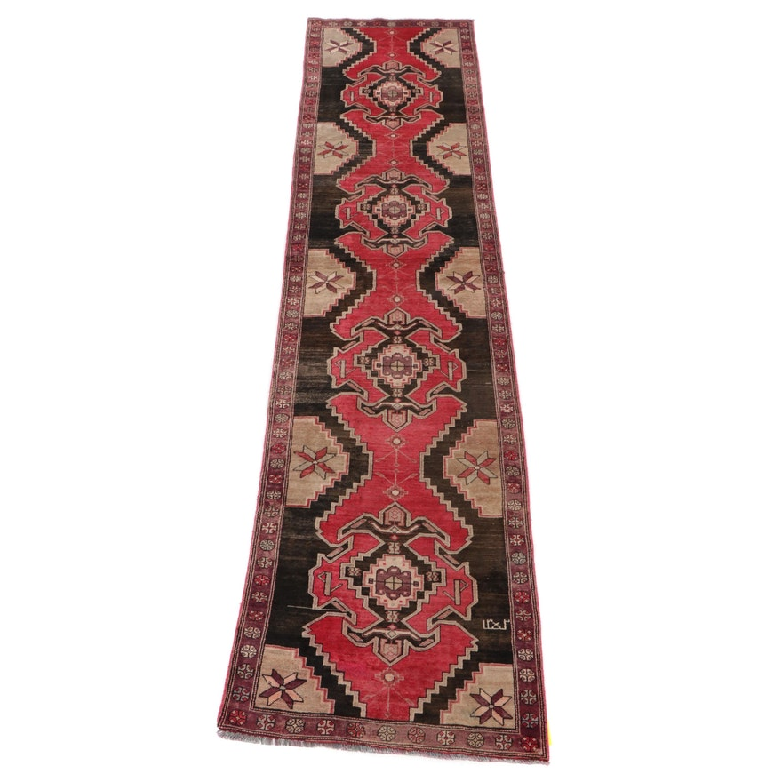 3'1 x 12'8 Hand-Knotted Northwest Persian Carpet Runner, circa 1950s