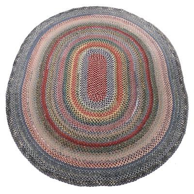 9'9 x 12'0 Handmade Braided Coil Area Rag Rug