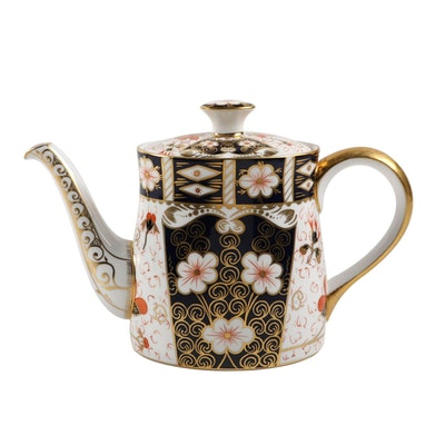 "Royal Crown Derby ""Traditional Imari"" Bone China Coffee Pot, 1970s"