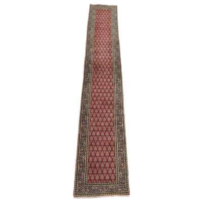 2'6 x 15'10 Hand-Knotted Persian Tabriz Mir Carpet Runner, 1970s
