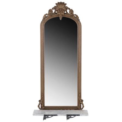 American Rococo Revival Giltwood Pier Mirror , Mid 19th Century