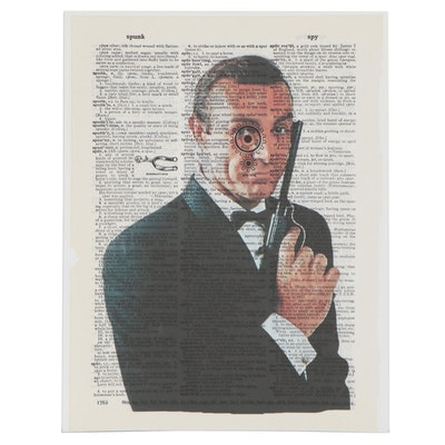 "Grant Rosen and Micha Ruechenhoff Pop Art Giclée of Sean Connery ""Bond"""