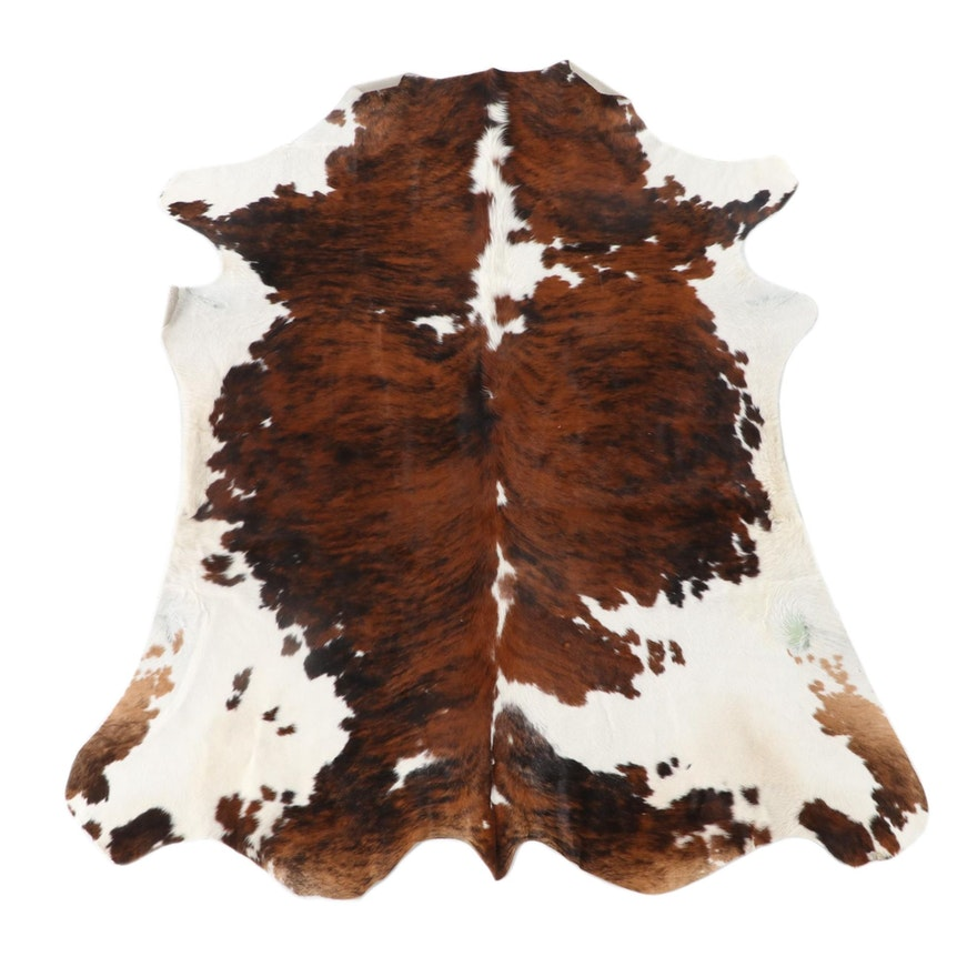 6'4 x 7'2 Natural Cow Hide Area Rug