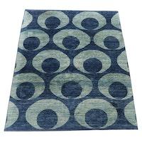 8'0 x 10'0 Hand-Knotted Modern Geometric Wool Rug