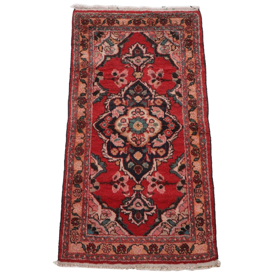 2'3 x 4'6 Hand-Knotted Persian Tabriz Accent Rug, 1960s