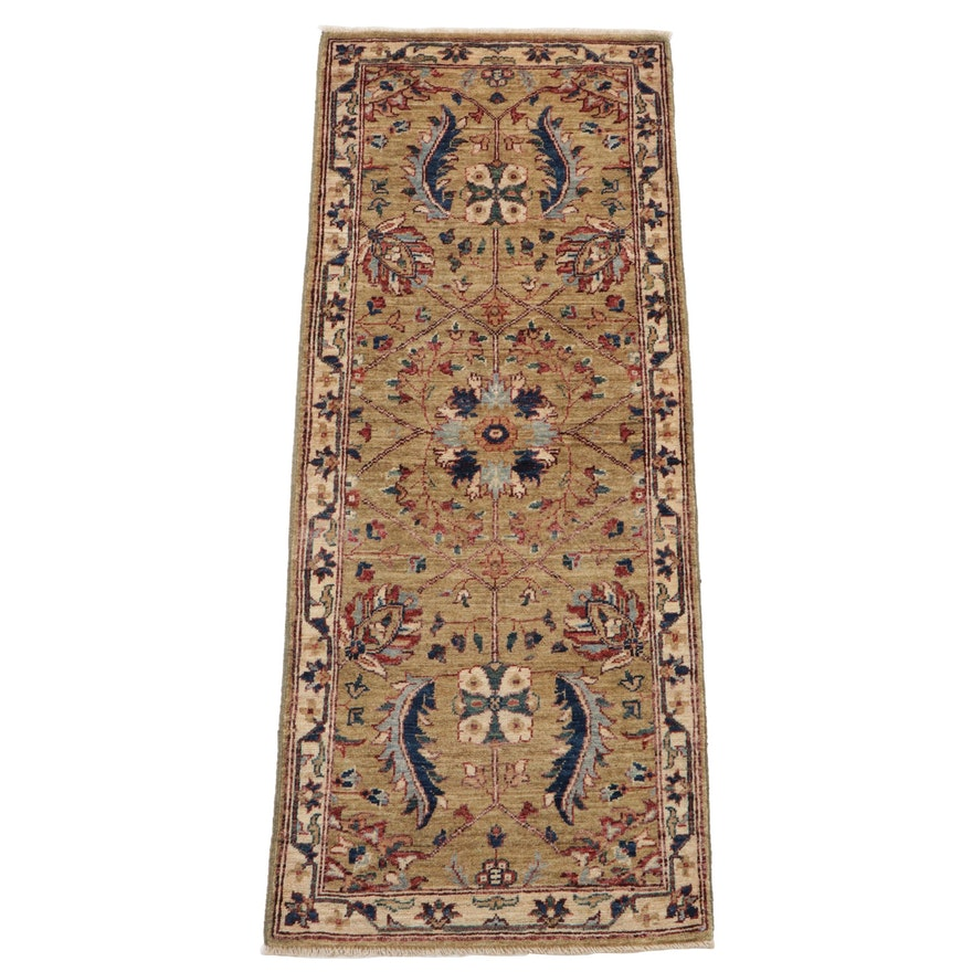 2'1 x 5'3 Hand-Knotted Afghan Persian Tabriz Carpet Runner, 2010s