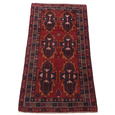 3'5 x 6'4 Hand-Knotted Afghani Turkoman Long Rug, 2000s