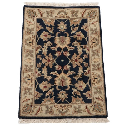 2'1 x 3'3 Hand-Knotted Indo-Persian Tabriz Accent Rug, 2000s