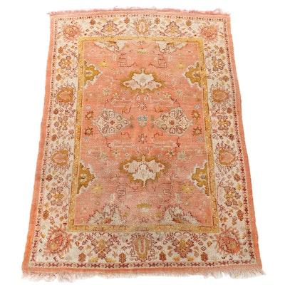 6'8 x 10'0 Hand-Knotted Pakistani Peshawar Wool Area Rug