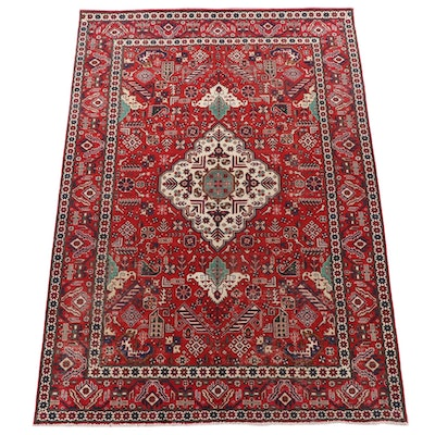 6'5 x 9'6 Hand-Knotted Persian Qashqai Wool Area Rug