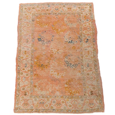 4'10 x 7'3 Hand-Knotted Indo-Persian Mahal Wool Rug
