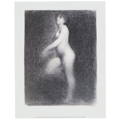 "Offset Lithograph after Georges Seurat ""Nude 1881,"" 21st Century"