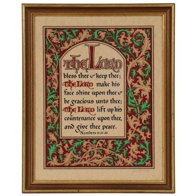 "Jonathan Blocher Serigraph from ""Manuscriptures"" Series"