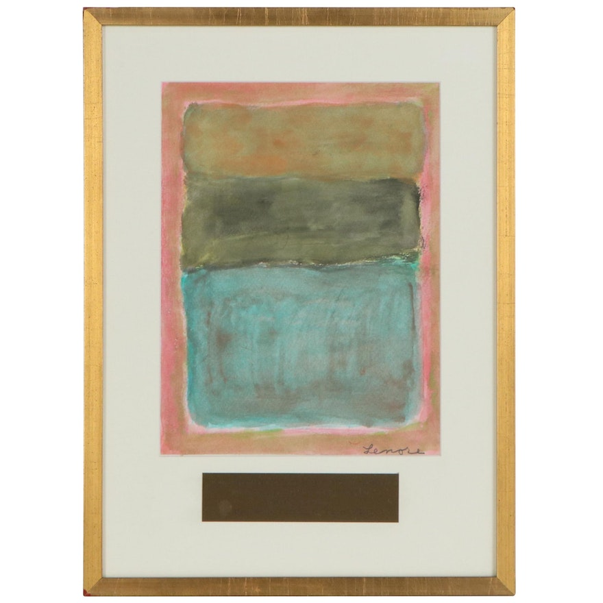 """Abstract Watercolor Painting """"Rothko Remembered,"""" 2006"""