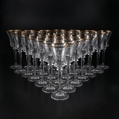 "Mikasa ""Jamestown Gold"" Crystal Goblets, 1987–2010"