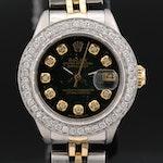 1979 Rolex Datejust Wristwatch with Diamond Bezel