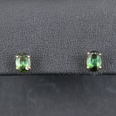 14K Tourmaline Stud Earrings