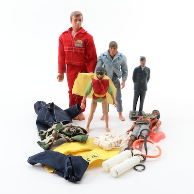 """Action Figures Including """"6-Million Dollar Man"""", """"Robin"""", Military Officer, More"""