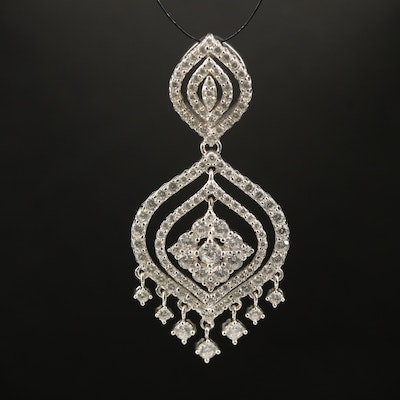 Sterling Cubic Zirconia Layered Pendant