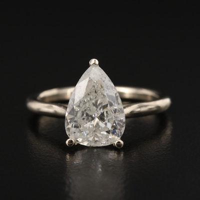 18K 2.55 CT Diamond Solitaire Ring