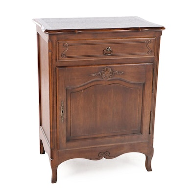 French Walnut Side Cabinet, Mid to Late 20th Century