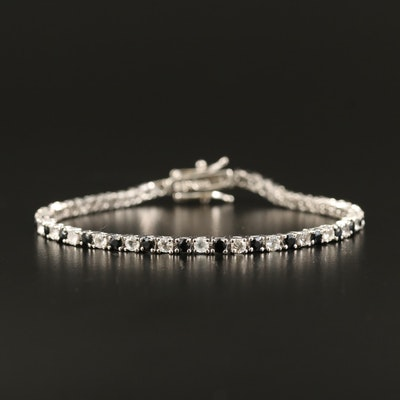 Sterling Sapphire Line Bracelet