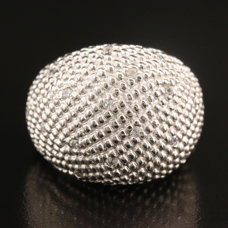 Sterling Silver Cubic Zirconia Dome Ring