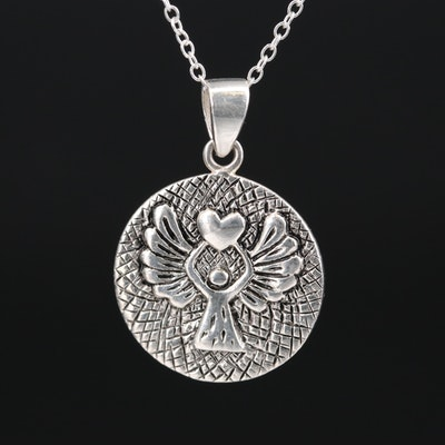 Sterling Guardian Angel Necklace