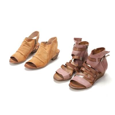 "Miz Mooz ""Chase"" and ""Ferris"" Leather Sandals"