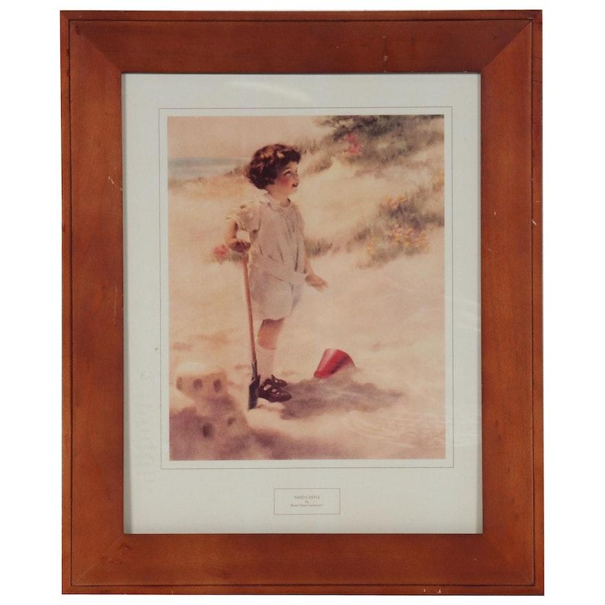 "Digital Print after Bessie Pease Gutmann ""Sand Castle"""