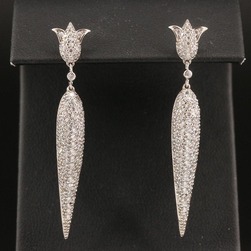 Sterling Cubic Zirconia Drop Earrings
