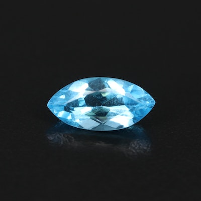 Loose 2.10 CT Marquise Faceted Topaz Gemstone