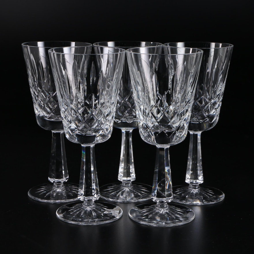 """Galway Crystal """"Clifden"""" Water Goblets, 1978–1993"""