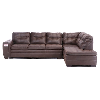 "Home Solutions by Lane ""Excursion Java"" Upholstered Sectional Sofa"