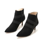 G.I.L.I. Genevive Suede Black Zip Booties