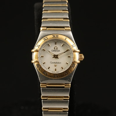"Omega ""Constellation"" 18K and Stainless Steel Wristwatch"