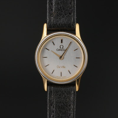 "Vintage Omega ""Deville"" Two-Tone Quartz Wristwatch"